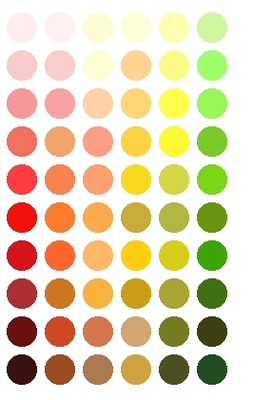 warm color sheet